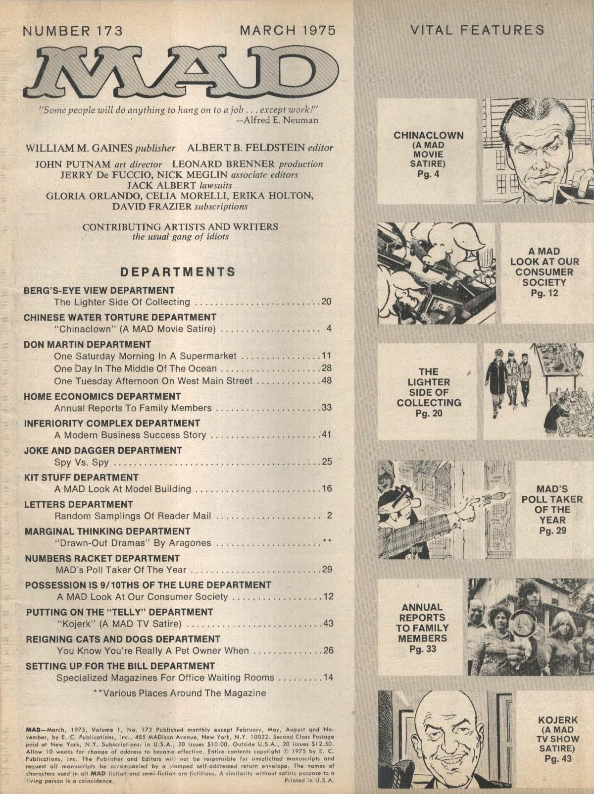 MAD #173 Chinatown Kojak satire parody 3 1975