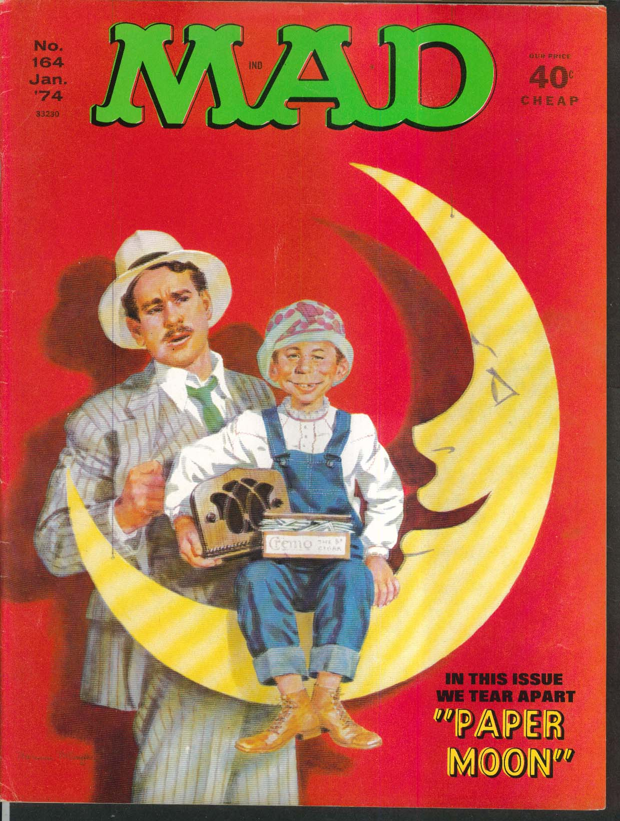MAD #164 Paper Moon Kung Fu satire parody 1 1974