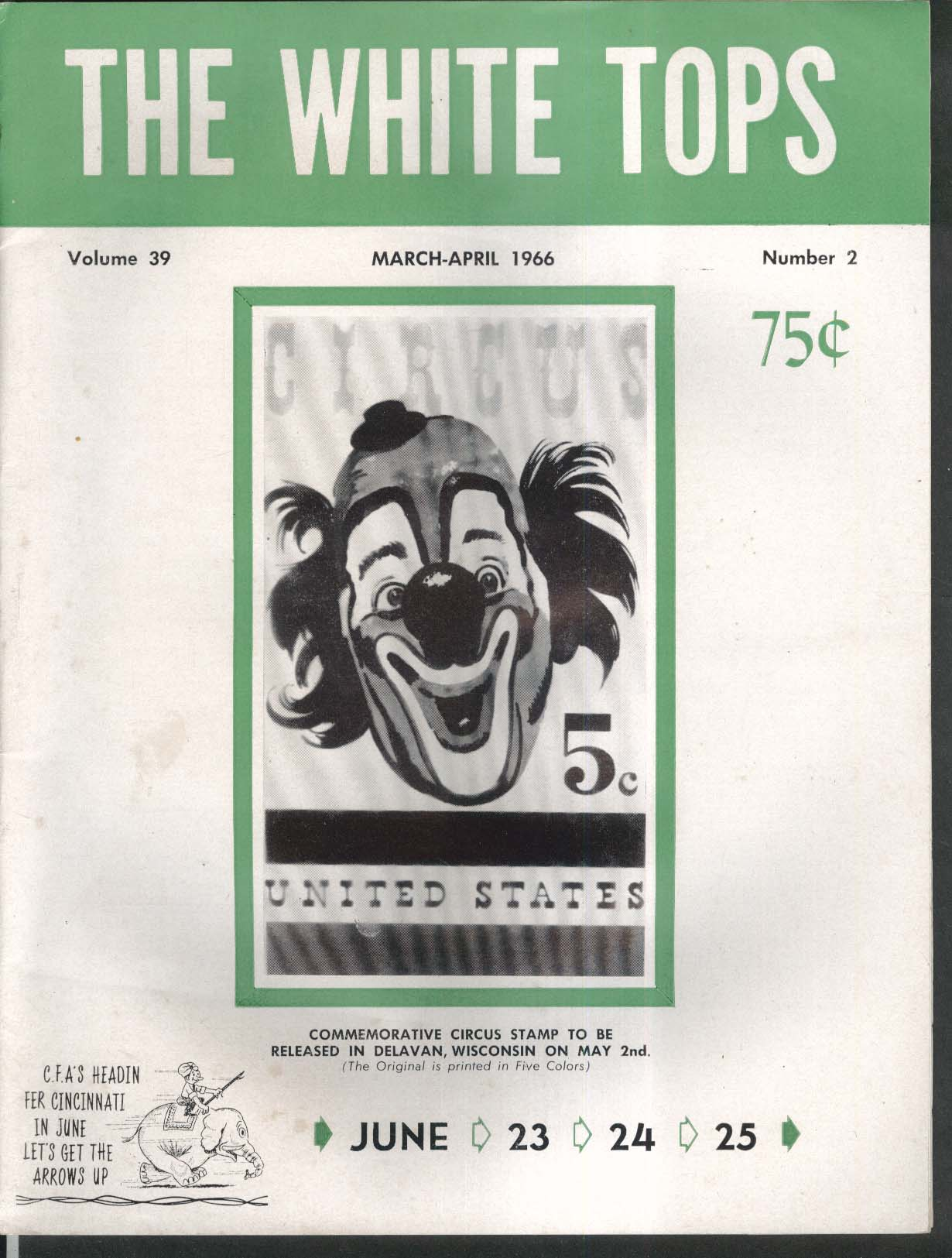 WHITE TOPS Los Tonitos Merle Evans Bertram Mills Circus 3-4 1966