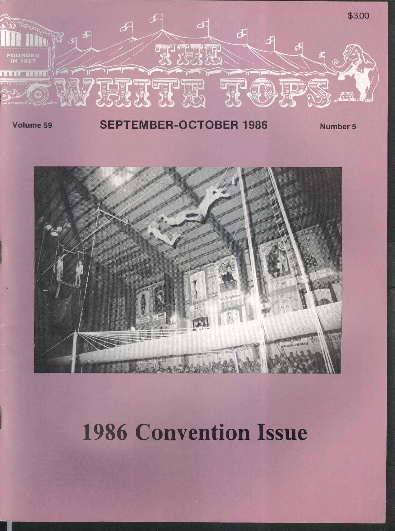 WHITE TOPS Convention Issue Indiana Circus 9-10 1986