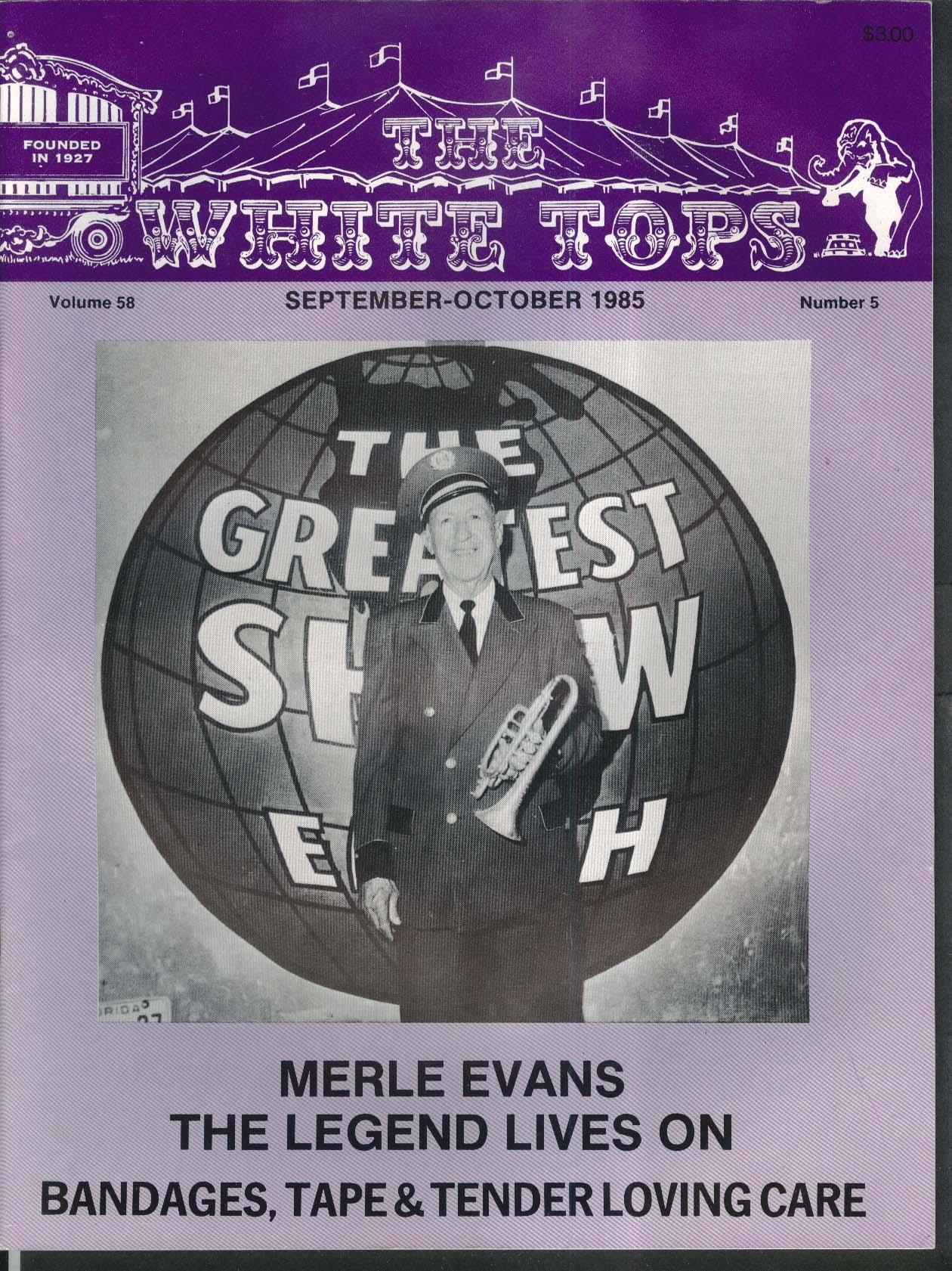 WHITE TOPS Merle Evans Pedro Carillo Tent 9-10 1985