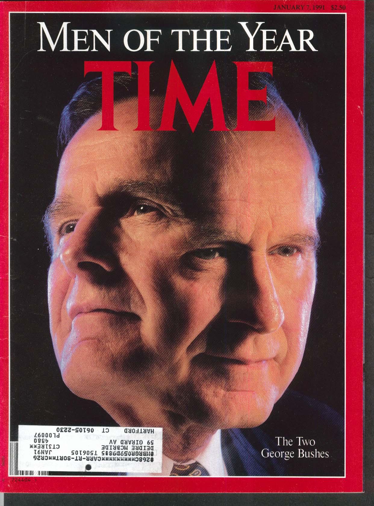 TIME George Bush Saddam Hussein Mikhail Gorbachev Nelson Mandela + 1/7 1991