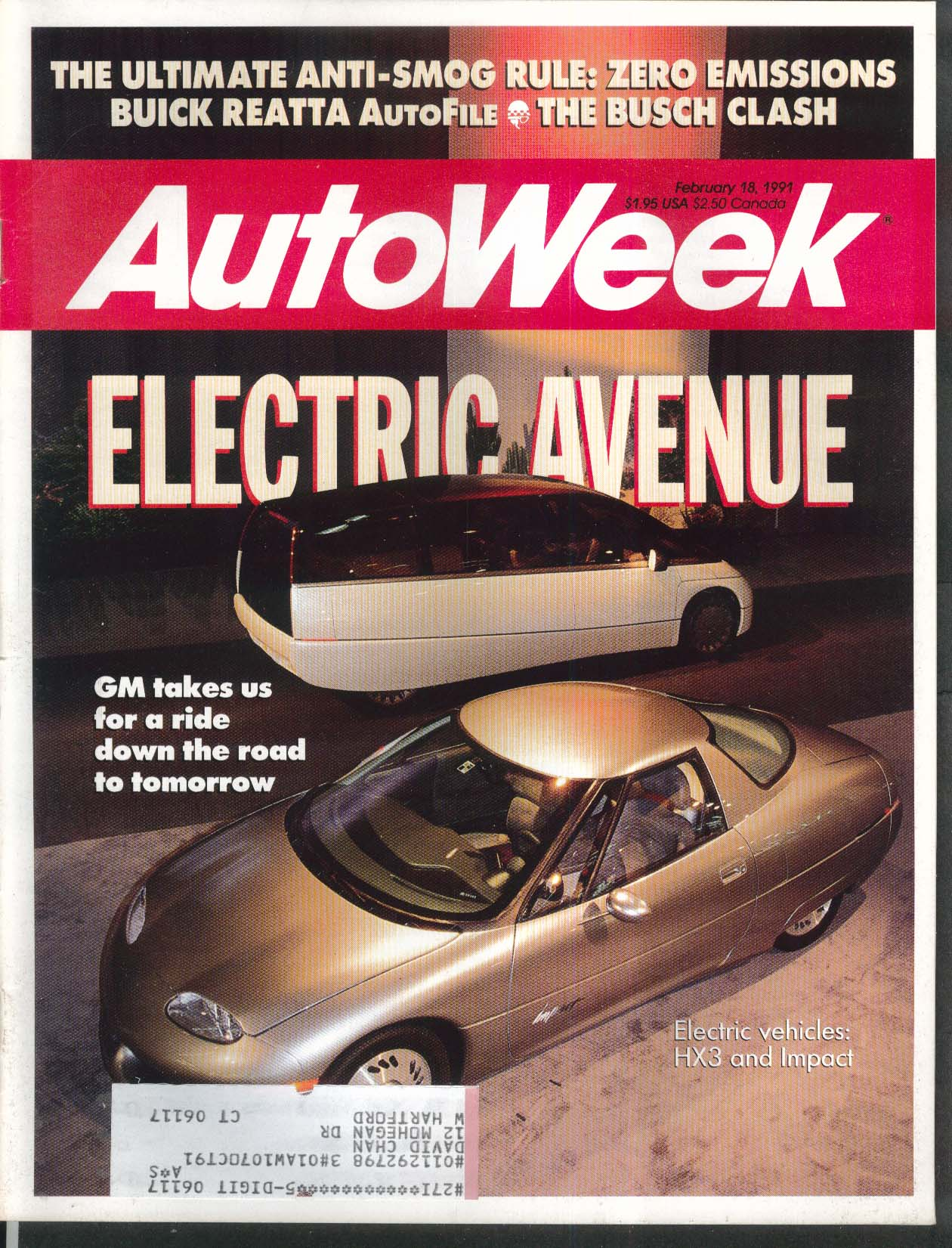 Auto week gm hx3 impact buick reatta busch 218 1991 publicscrutiny Images