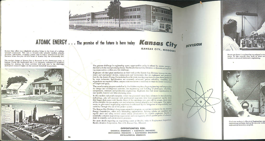 Bendix & Your Future Recruitment Brochure ca 1960 space missiles auto etc