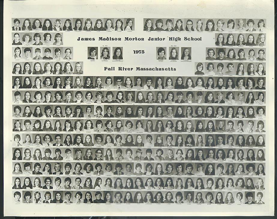James Madison Morton Junior High School Fall River MA class photo 1975
