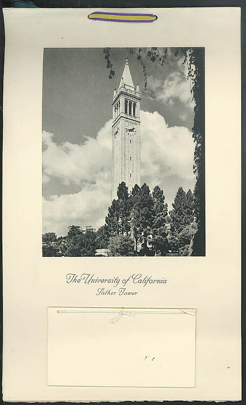 U California Sather Tower calendar 1959 Automobile Mutual Insurance