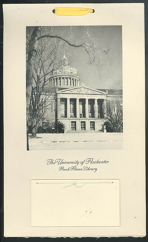 U of Rochester Rush Rhees Library calendar 1958 Automobile Mutual Insurance