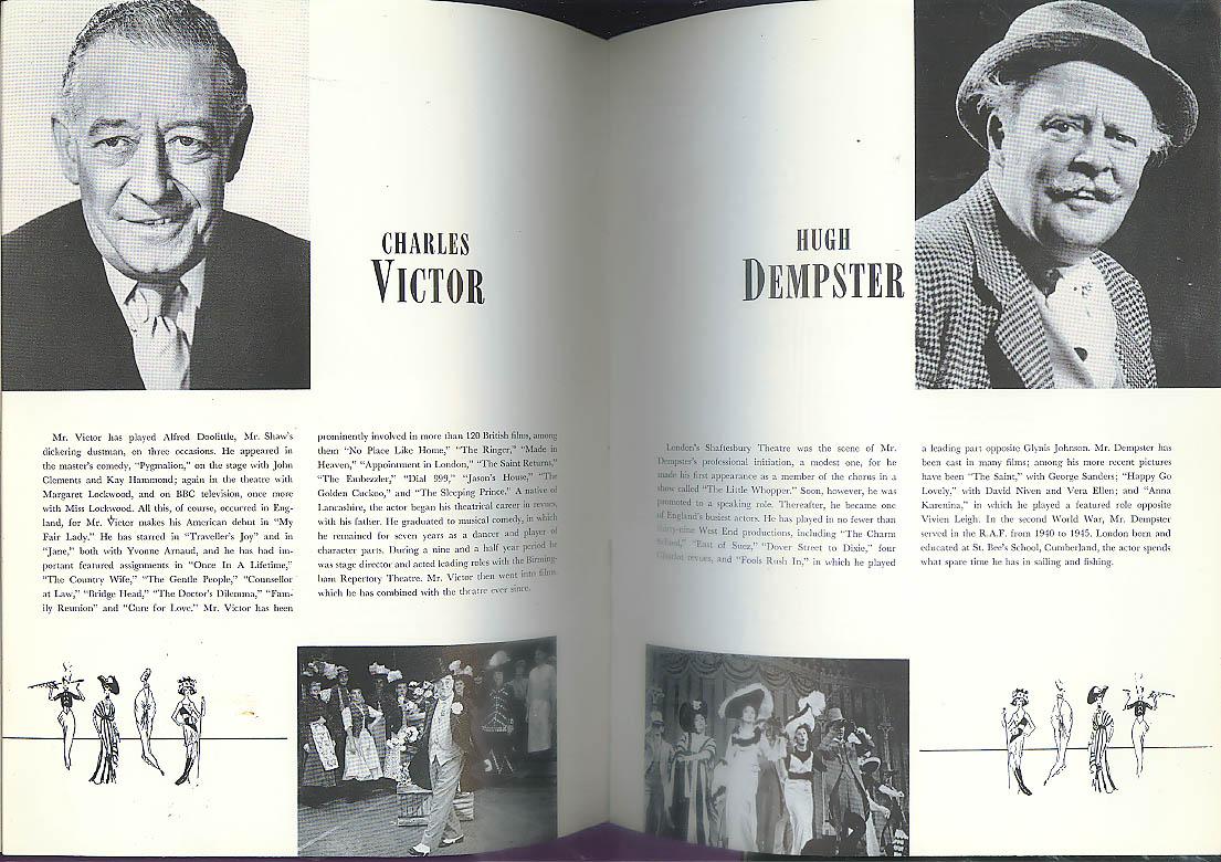 Michael Evans & Caroline Dixon My Fair Lady souvenir program 1960s