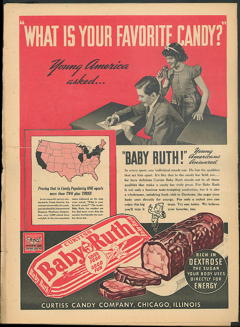 YOUNG AMERICA Coal chemistry TV broadcast; gymnastics Baby Ruth ad 1/26 1940