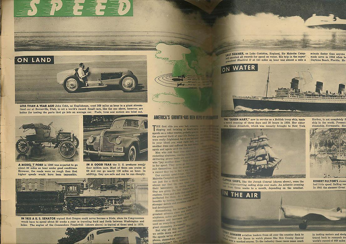 YOUNG AMERICA Baseball begins; Speed on land sea air; Ezra Stone 4/19 1940