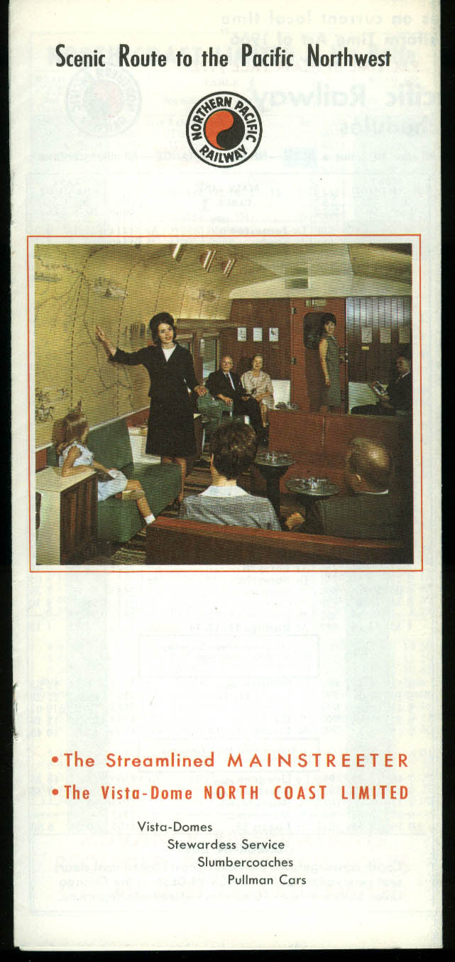 Northern Pacific Railway Timetable 10/29 1967