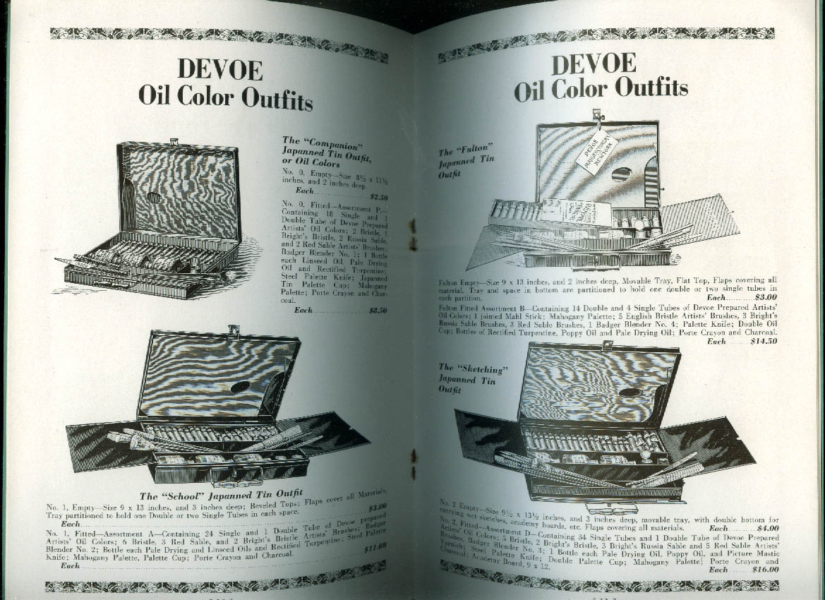 Devoe & Raynolds Decorative Art Materials Gifts Catalog 1930s