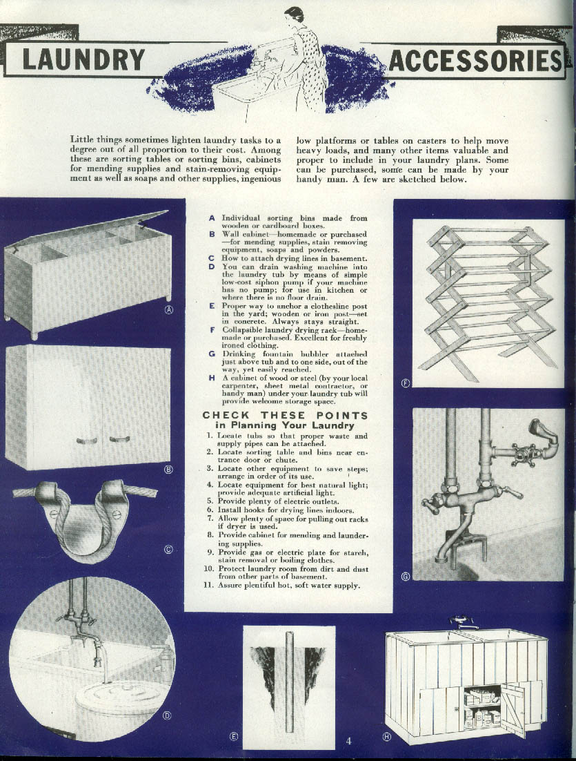 Crane Home Laundry Guide for Home Laundry 1936
