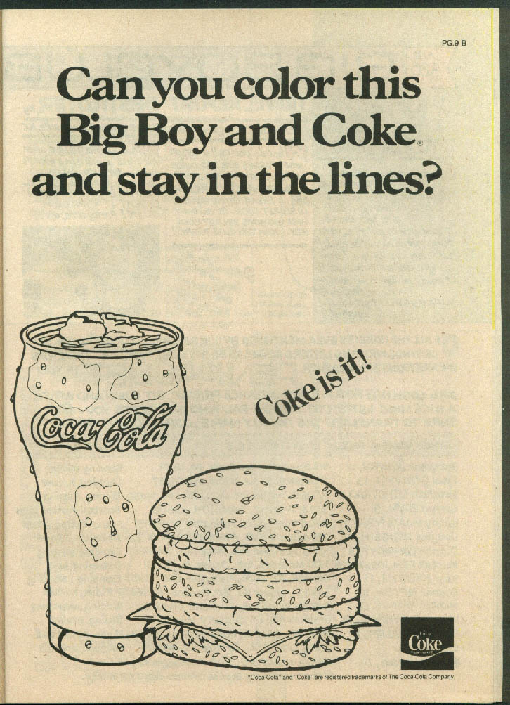 Adventures of the Big Boy #326 comic book Abdow's Restaurant 6 1984 Coca Cola ad