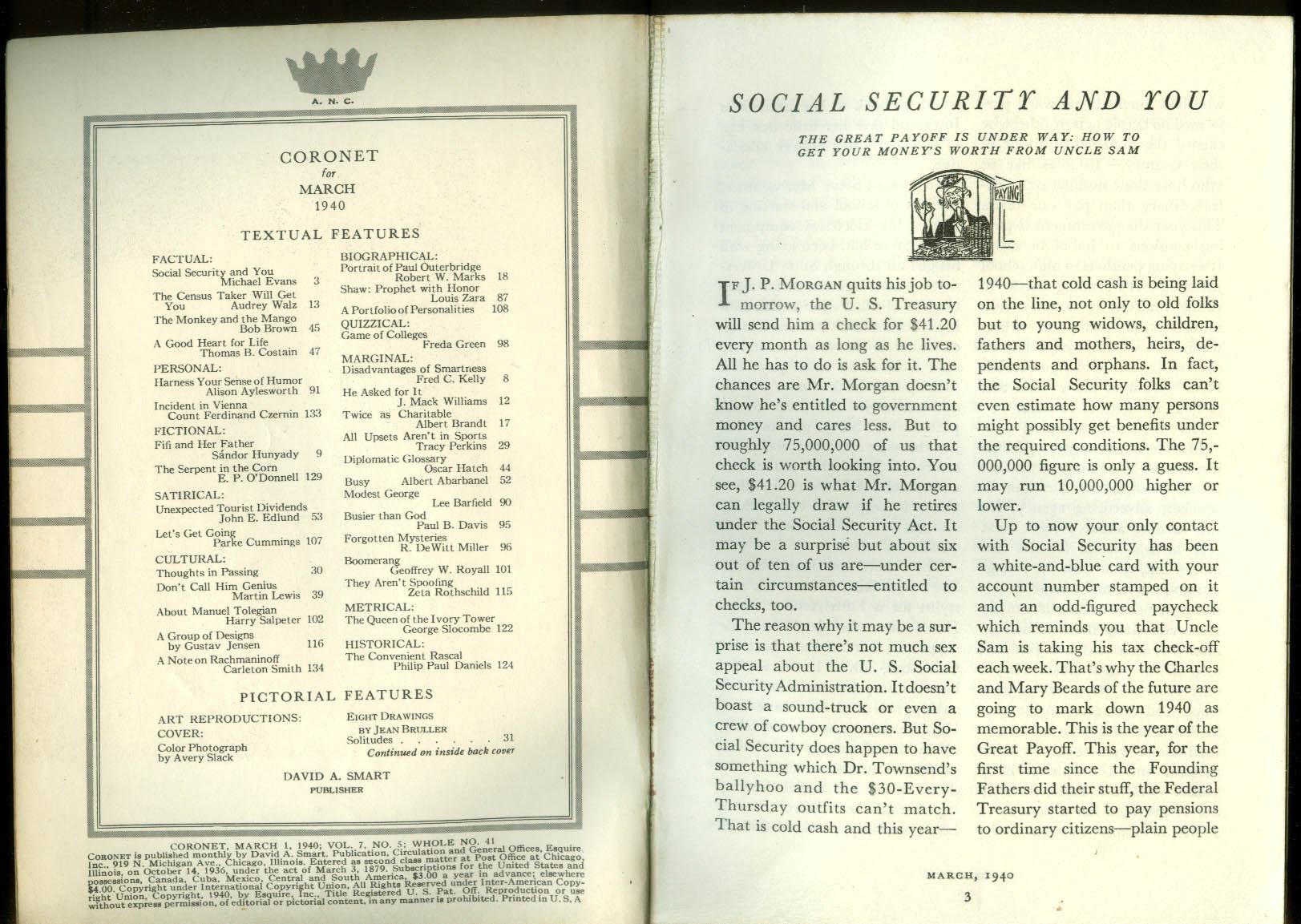 CORONET 3 1940 Bruller Gustav Jensen Tolegian Outerbridge Dorr Brassai G B Shaw