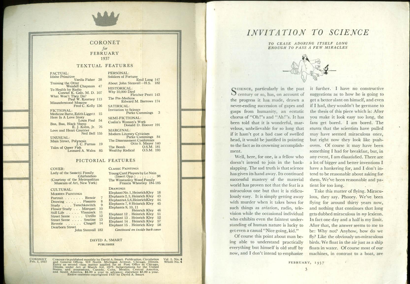 CORONET 2 1937 John Stenvall Henri Gautier Heinrich Kley elephants Gyula Ramhab