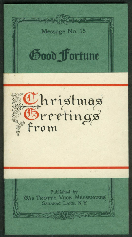 Trotty Veck Messengers Message #15 Good Fortune 1926 with Christmas wrapper