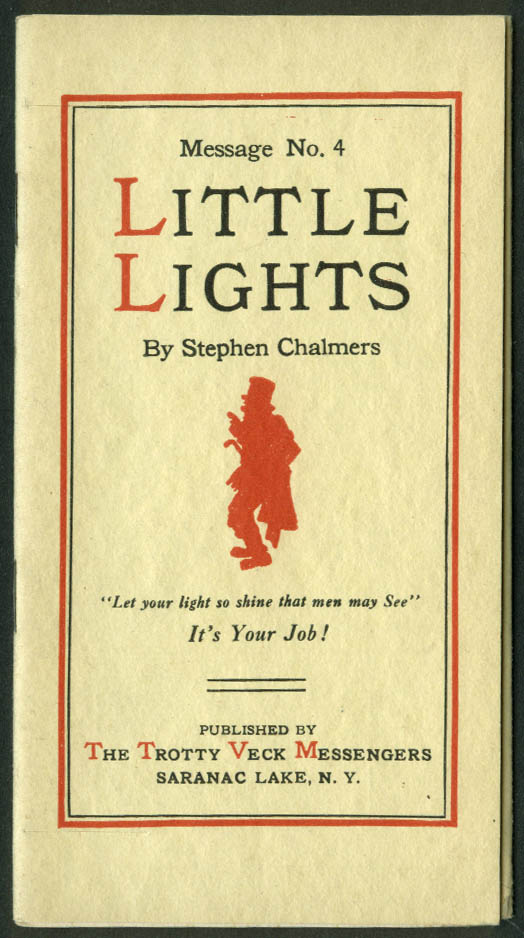 Trotty Veck Messengers Message #4 Little Lights 1915 with self-mailer wrapper