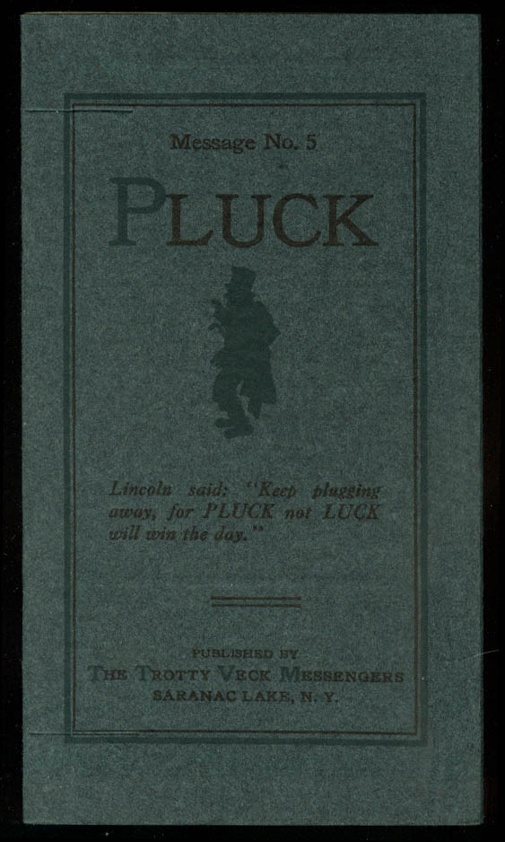 Trotty Veck Messengers Message #5 Pluck 1915 with self-mailer wrapper