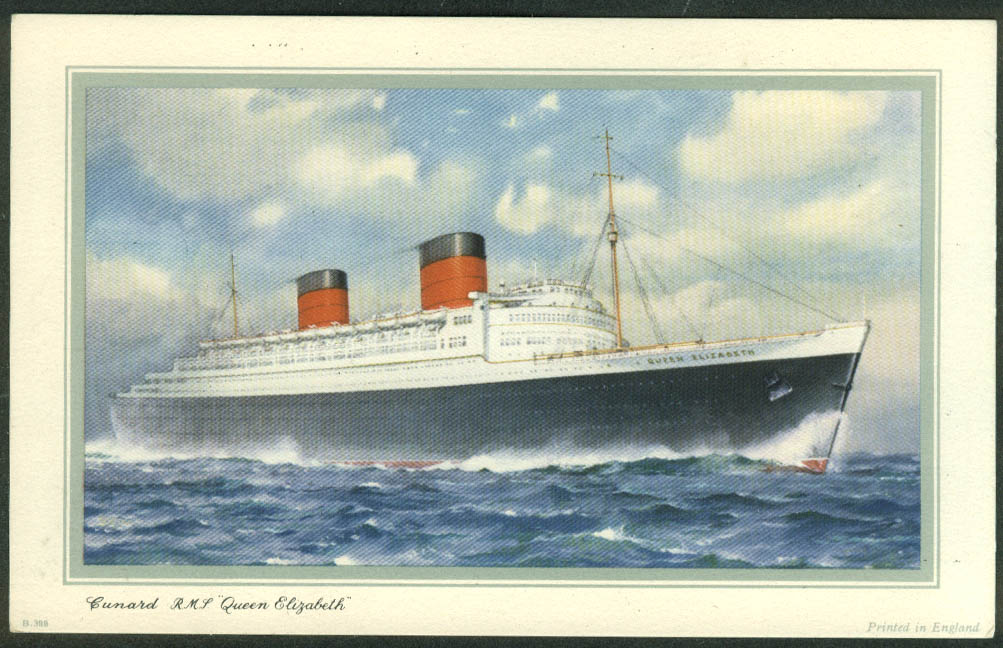 Cunard R M S Queen Elizabeth Abstract of Log Southampton-NY 1958