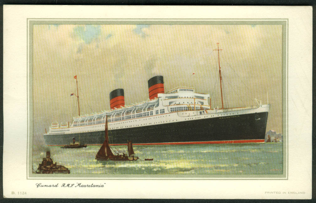 Cunard R M S Mauretania Abstract of Log NY-Southampton 1958