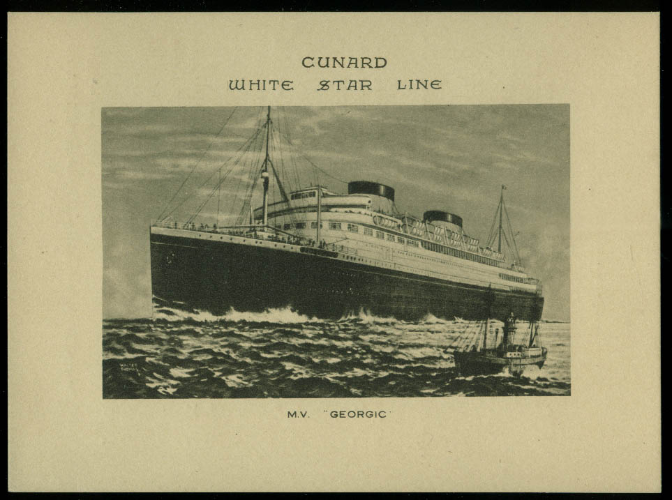 Cunard White Star M V Georgic Abstract of Log West Indies Cruise from NY 1935