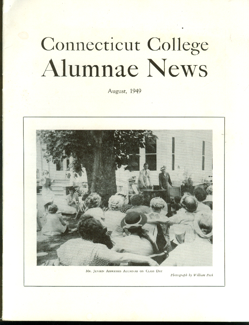Connecticut College ALUMNAE NEWS 8 1949