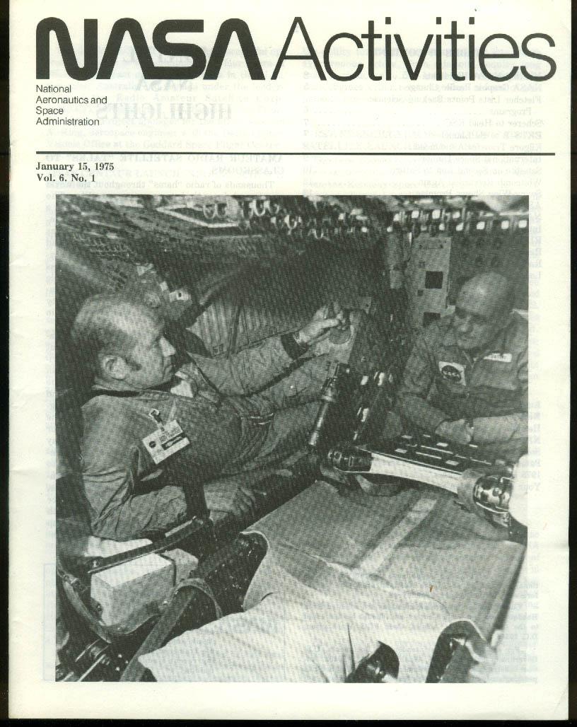 NASA ACTIVITIES 1/15 1975: Skylab; Swing Wing; 1974 recap