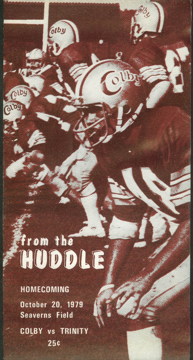 Colby College v Trinity College From the Huddle Football Game Program 10/20 1979