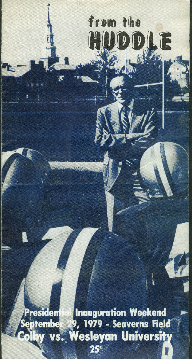 Colby College vs Wesleyan U From the Huddle Football Game Program  9/29 1979