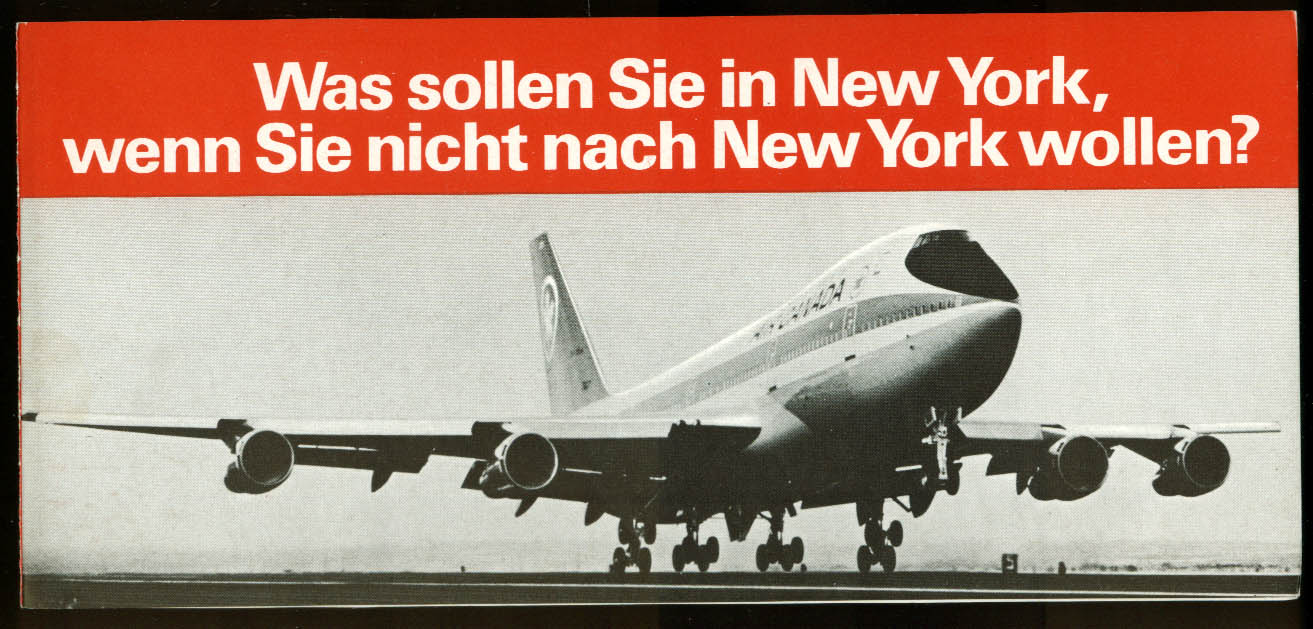 Air Canada Was sollen Sie in New York airline folder 1970s