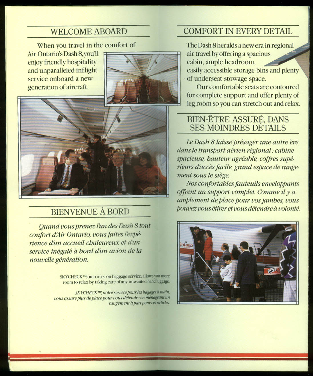 Air Ontario Dash 8 Raising Standards in Service airline folder 1980s