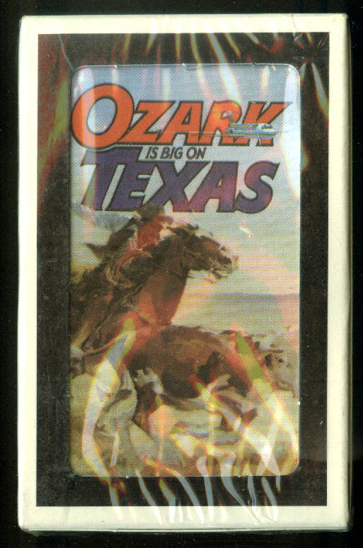 Ozark Air Lines is Big on Texas airline issue deck of playing cards unopened