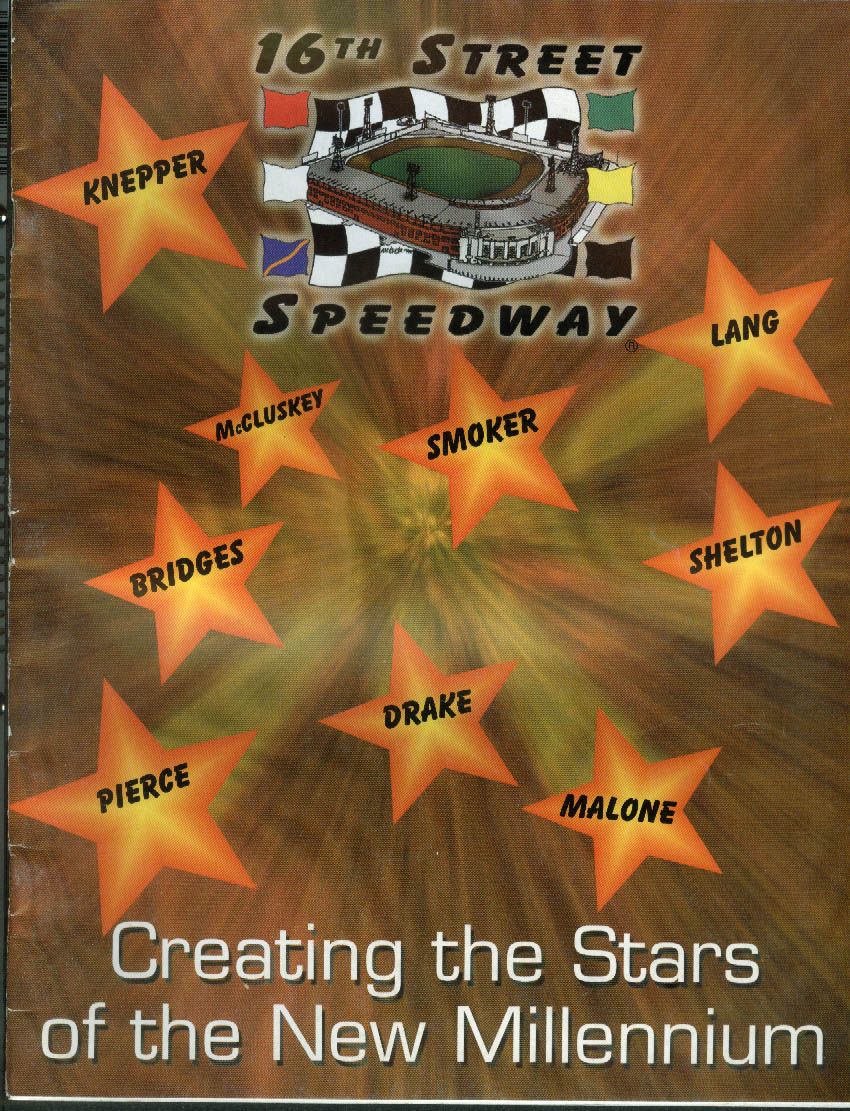 16th Street Speedway Indianapolis Racing Program 1999 MCI USAC Midgets