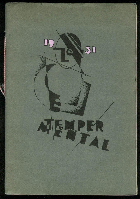 Cass Tech High School TEMPER MENTAL arts magazine 1931 SIGNED art Detroit