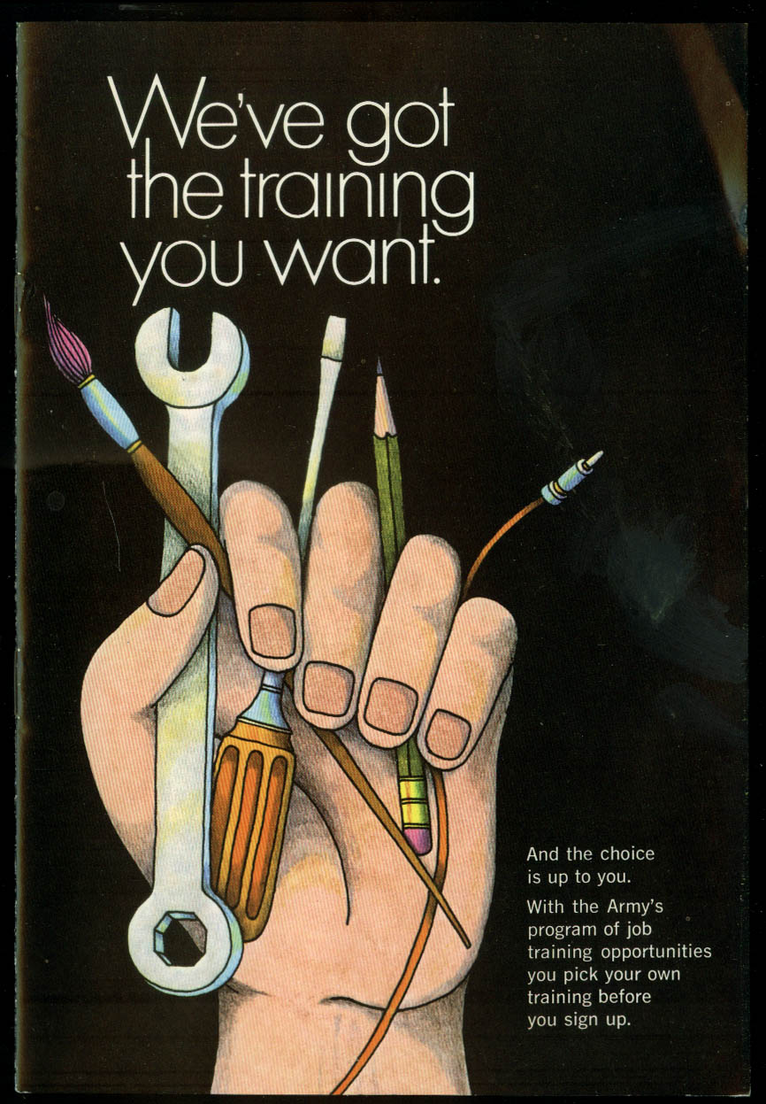 US Army Recruiting Brochure We've Got the Training for You 1970
