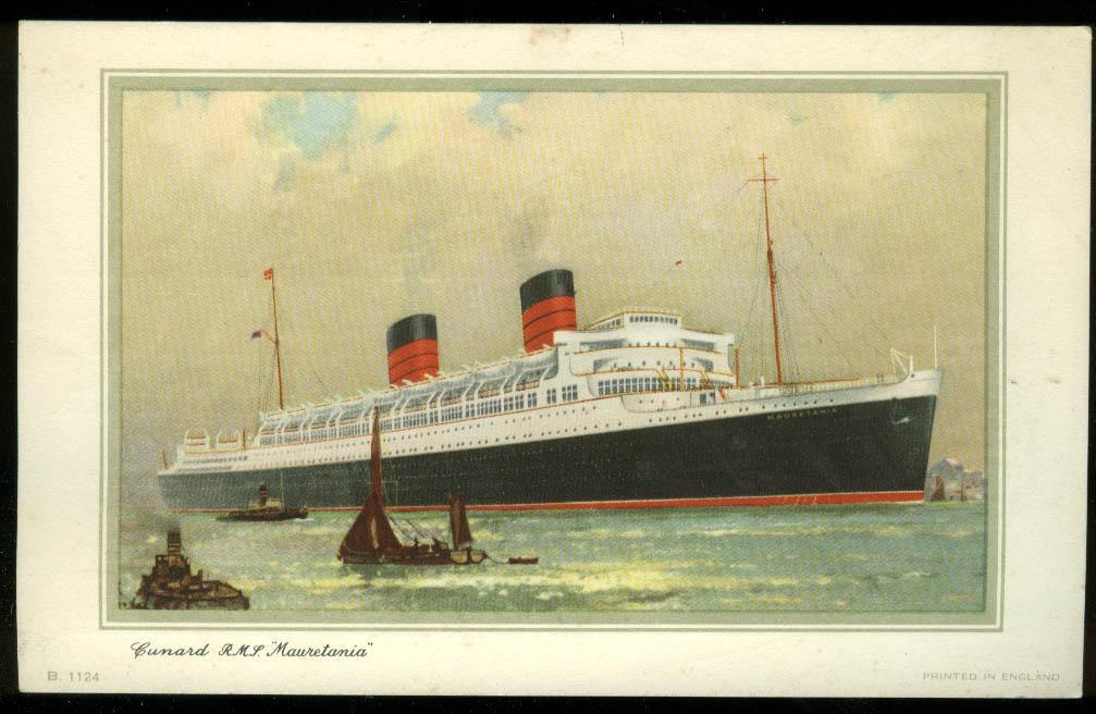 Cunard Line R M S Mauretania Souvenir Log NY-Southampton 9/4-10 1958