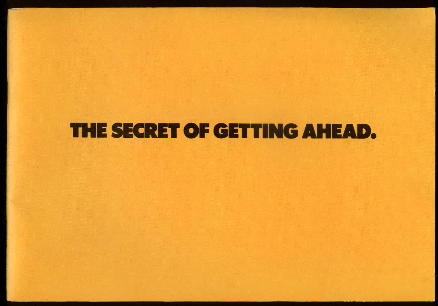 US Army Secret of Getting Ahead recruitment brochure 1970