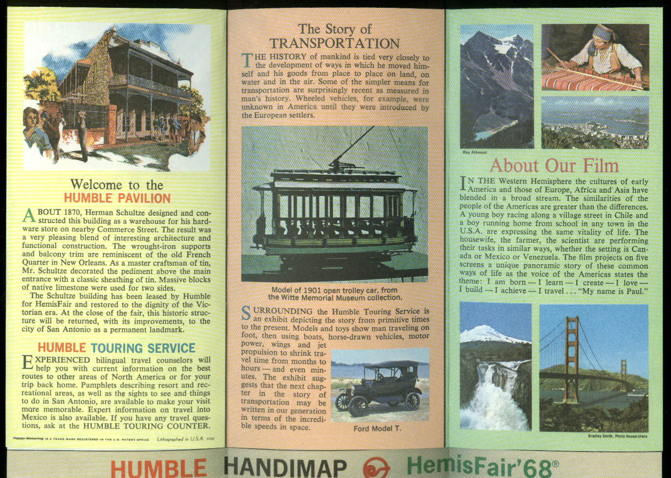 Image for HemisFair '68 Guide to the Enco Humble Pavilion & Map of the Fair 1968