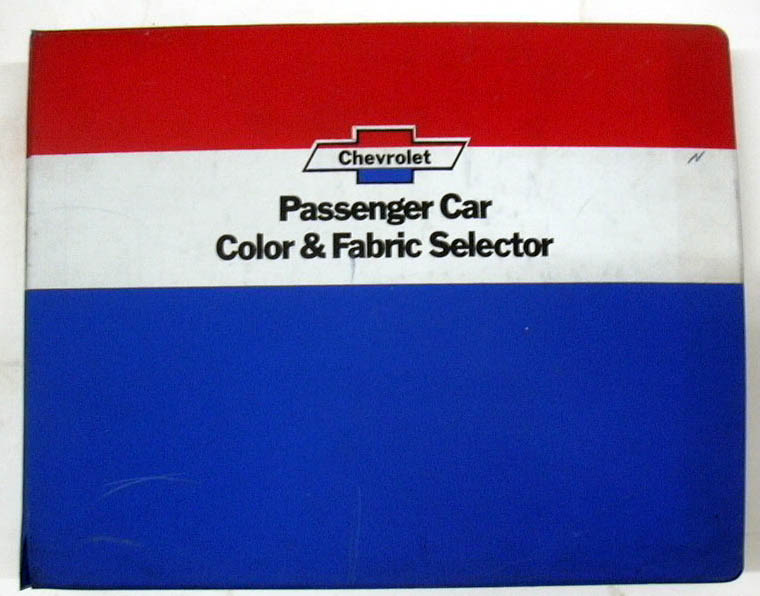 1974 Chevrolet Passenger Car Color & Fabric Selector Corvette Camaro Chevelle +