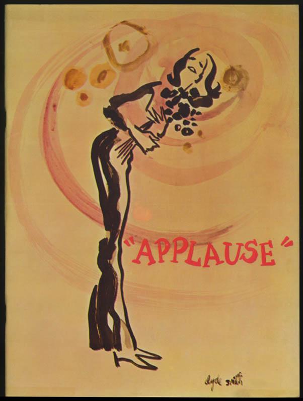 Applause theatre program 1970 1st cast Lauren Bacall Len Cariou Bonnie Franklin