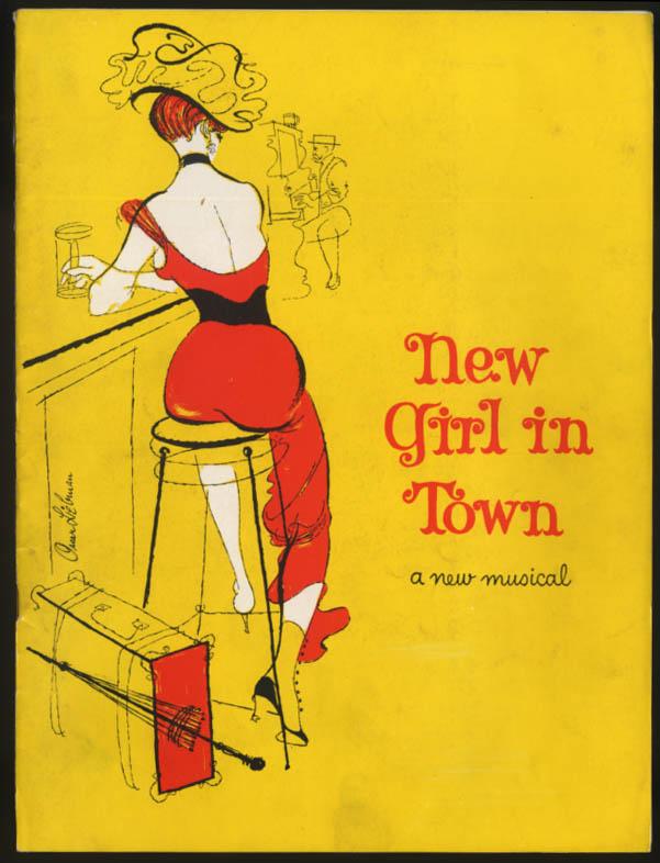 A New Girl in Town Musical Theater program 1957 Gwen Verdon Thelma Ritter