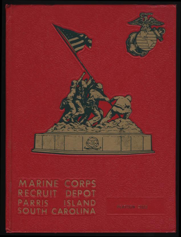 USMC Marine Corps Depot Parris Island Class Book Platoon 2023 1982-1983