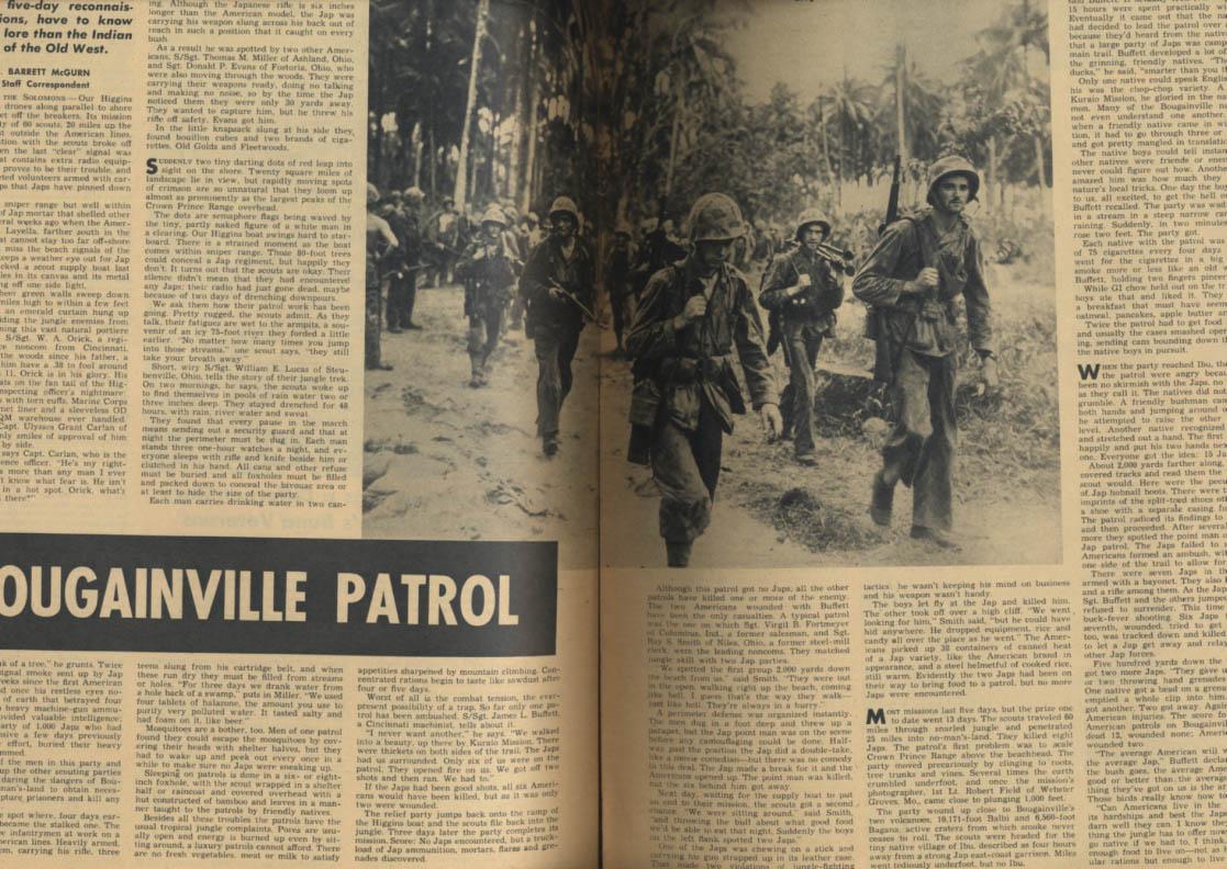 YANK 2/4 1944 Bougainville Patrol; Oregon preps GI jobs; Saidor; Ann Savage