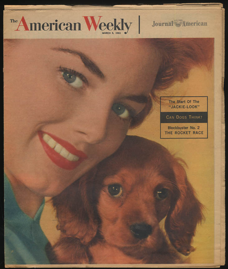 AMERICAN WEEKLY 3/5 1961 The Jackie Kennedy Look; USSR v USA Rockets