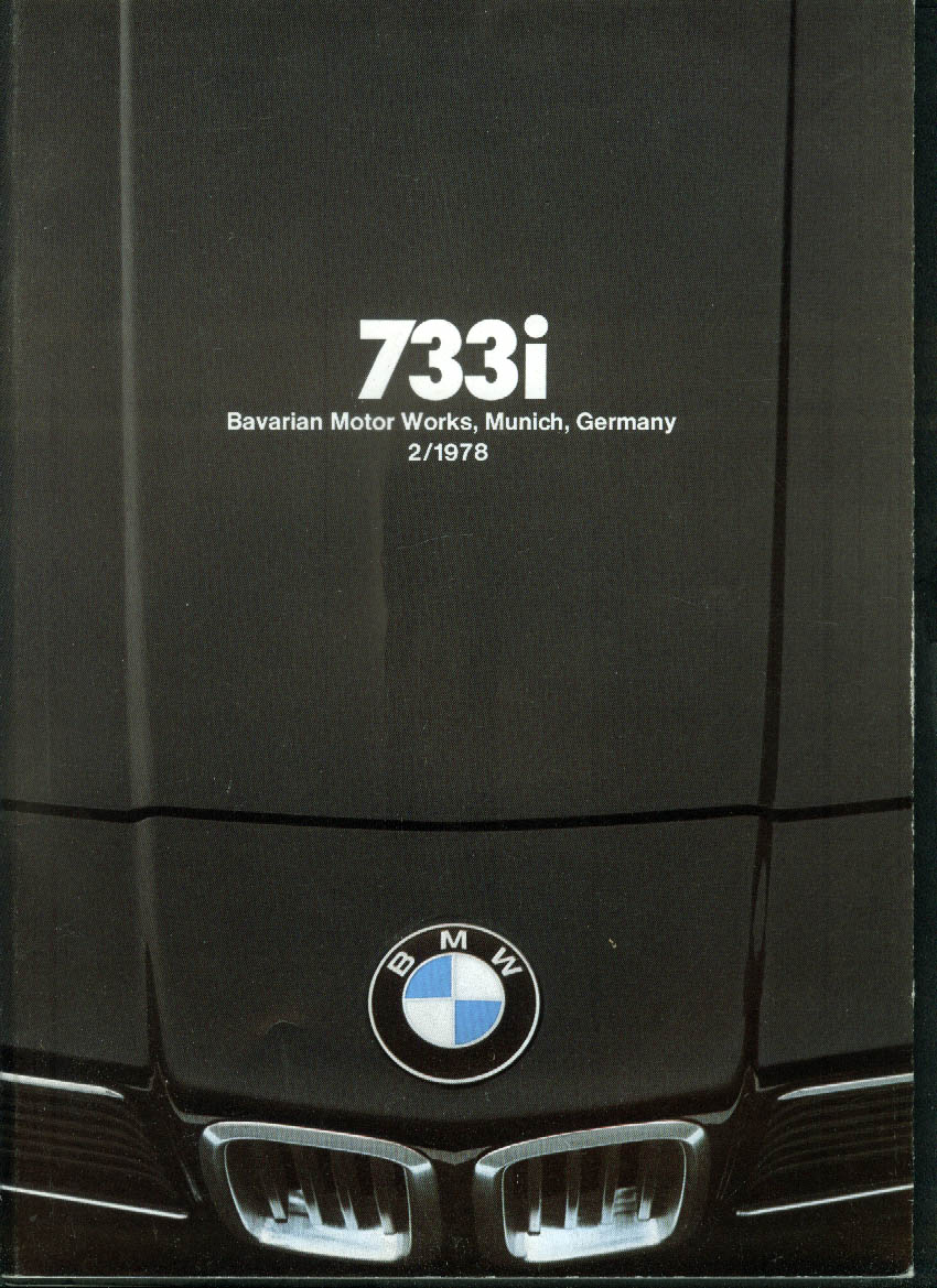 BMW 733i sales brochure 2 1978