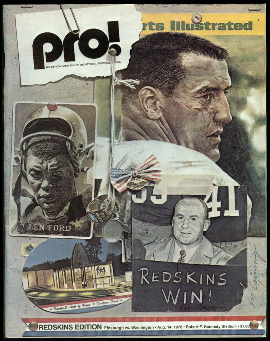 PRO! NFL Game Program Magazine Steelers at Redskins 4/14 1976