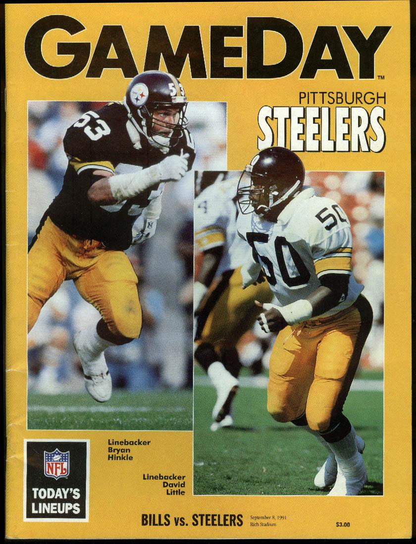 NFL GAMEDAY Program Magazine Steelers at Bills 9/8 1991