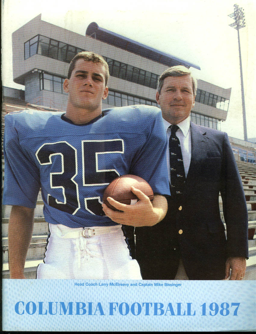 Columbia University Football Media Guide 1987