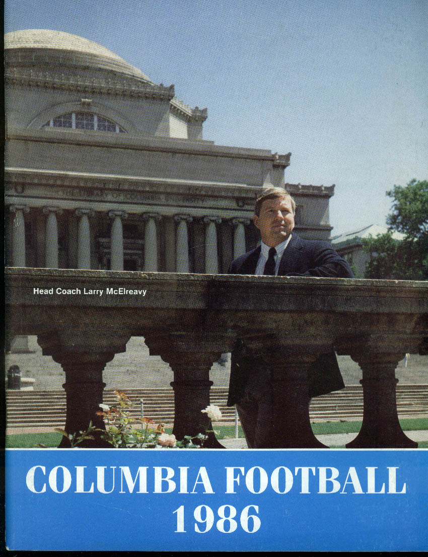 Columbia University Football Media Guide 1986